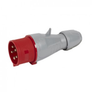 Straight plug P17 - IP44 - 380/415 V~ - 32 A - 3P+N+E