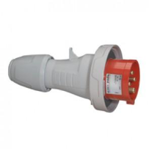 Straight plug P17 - IP66/67 - 380/415 V~ - 32 A - 3P+E