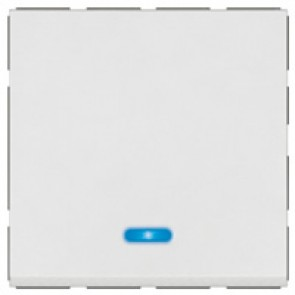 2-way push-button Arteor - with locator - 2 modules - white