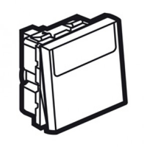2-way push-button Arteor - with label holder - 2 modules - white