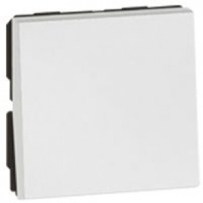 1-way push-button Arteor - 2 modules - white