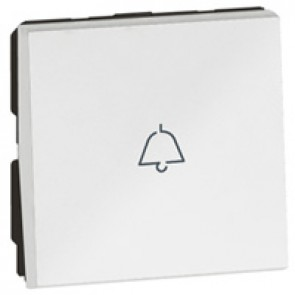 1-way push-button Arteor - with bell symbol - 2 modules - white