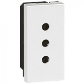 Socket Arteor - Italian - 10 A - 2P+E on line - 1 module - white