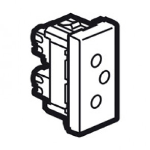 Socket Arteor - Swiss - 10/16 A - 2P+E shutteres - type 12 - 1 module - white