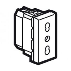 Socket Arteor - Italian - 10/16 A - 2P+E shuttered - 1 module - white