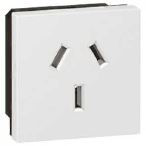 Socket Arteor -Australian - 10/15 A - 2P+E shuttered - 2 modules - white