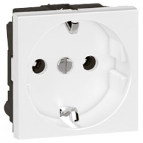 Socket Arteor - German - 16 A - 2P+E shuttered - 2 modules - white