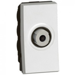 "TV socket Arteor - TV single shielded ""F"" type - 1 module - white"