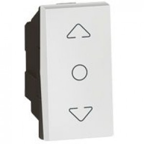 Curtain switch Arteor - centre retract - 1 module - white