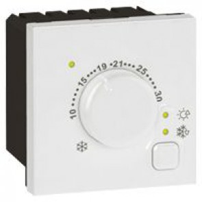 Electronic room thermostat Arteor - 2 modules - white