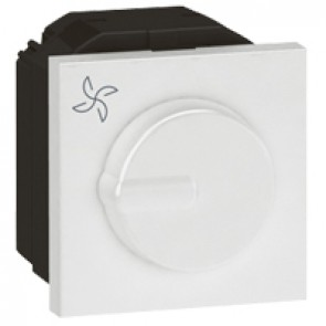 Fan controller Arteor - Fan step regulator 100 W- 2 modules - white