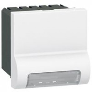 Skirting light Arteor - standard - with LED 230 V - 2 modules - white