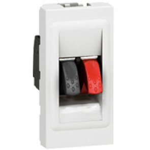 Loudspeaker soket Arteor - 4 mm² terminal - 1 module - white