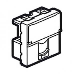 Telephone socket Arteor - for British Telecom - single master - 2 modules - magnesium
