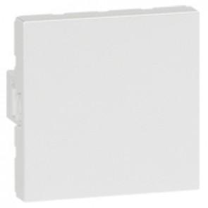 Blank modules Arteor - square - 2 modules - white