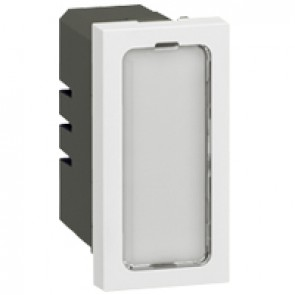 Illuminated lighting unit Arteor 230 V - 1 W- 1 module - white