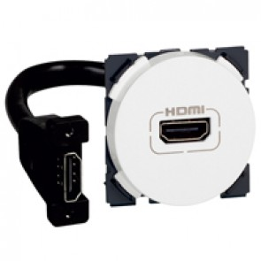 HDMI socket Arteor - preconnected - 2 modules - white