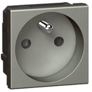 Socket Arteor - French - 2P+E shuttered - 10/16 A - 2 modules - magnesium