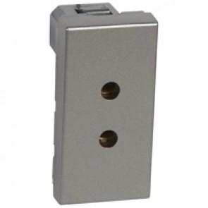 Socket Arteor - ELV - 2P - 3 A - 1 module - magnesium