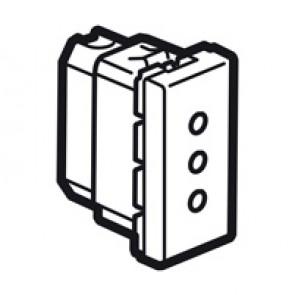 Socket Arteor - Italian - 10 A - 2P+E on line - 1 module - magnesium