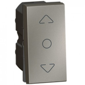 Curtain switch Arteor - centre off - 1 module - magnesium