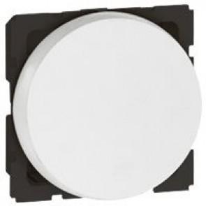 1-way push-button Arteor - 2 round modules - white