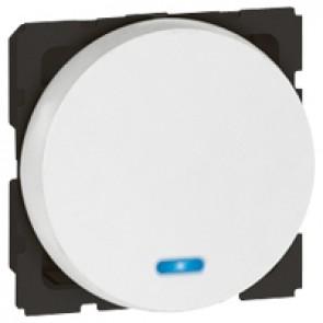 2-way push-button Arteor - with locator - 2 round modules - white