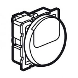2-way push-button Arteor - with label holder - 2 round modules - white