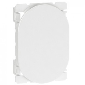 Blank modules Arteor - round - 3 modules - white