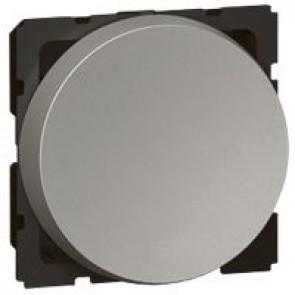 1-way push-button Arteor - 2 round modules - magnesium