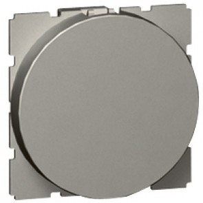 Blank modules Arteor - round - 2 modules - magnesium