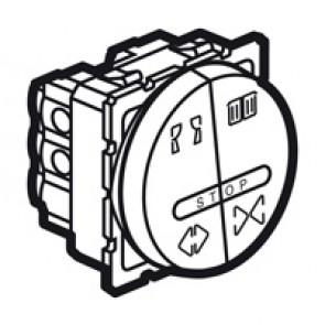Double push-button Arteor for curtain control - 6 A - 2 round modules - magnesium