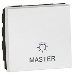Master switch Arteor - lighting control - 2 modules - white