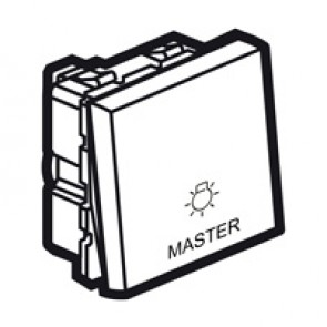 Master push-button Arteor - lighting control - 2 modules - white