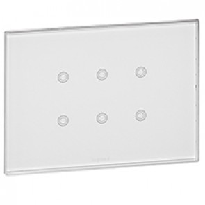 KNX touch control mechanism Arteor - 6 Actuation points - white