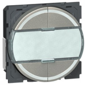 Scenario controller BUS/SCS Arteor - round key cover - magnesium - 2 modules