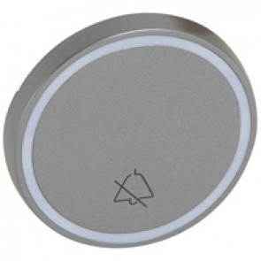 Round key cover Arteor - with symbol DO NOT DISTURB - magnesium - 2 modules