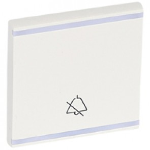 Square key cover Arteor - with symbol DO NOT DISTURB - white - 2 modules