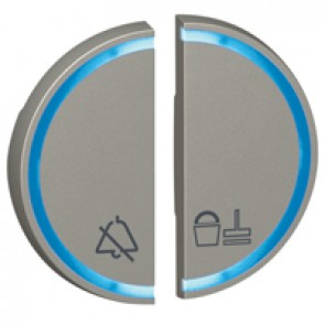 Round key cover Arteor - DO NOT DISTURB+PLEASE CLEAN THE ROOM - magnesium