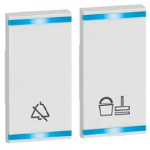 Square key cover Arteor - DO NOT DISTURB+PLEASE CLEAN THE ROOM - white