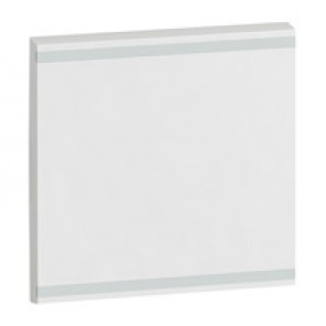 Square key cover Arteor BUS/SCS - without marking - 2 modules - white