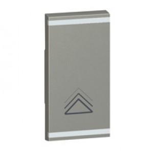 Square key cover Arteor BUS/SCS - dimmer symbol - 1 module - magnesium