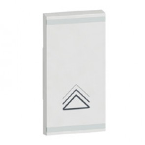 Square key cover Arteor BUS/SCS - dimmer symbol - 1 module - white