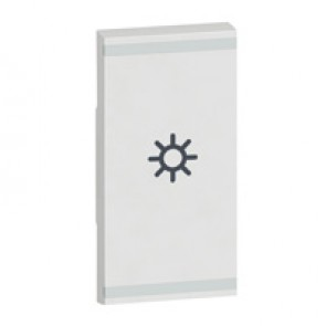 Square key cover Arteor BUS/SCS - light symbol - 1 module - white