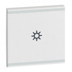 Square key cover Arteor BUS/SCS - light symbol - 2 modules - white
