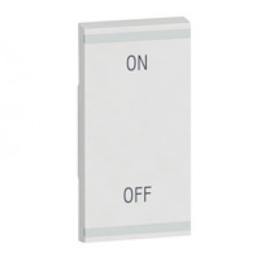 Square key cover Arteor BUS/SCS - ON/OFF - 1 module - white