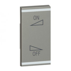 Square key cover Arteor BUS/SCS - regulation symbol - 1 module - magnesium
