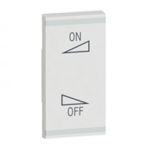 Square key cover Arteor BUS/SCS - regulation symbol - 1 module - white