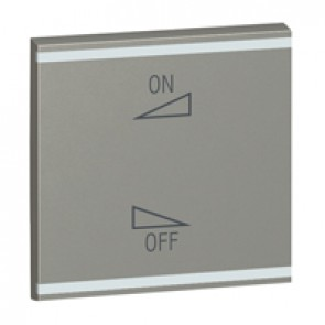 Square key cover Arteor BUS/SCS - regulation symbol - 2 modules - magnesium