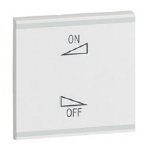 Square key cover Arteor BUS/SCS - regulation symbol - 2 modules - white